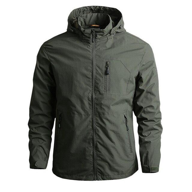 New Men's Softshell Jacket Autumn Spring Streetwear Tactical Bomber Windbreaker Jackets Men Hooded Hip-hop Pilot Windproof Coats 6