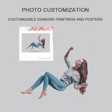 Diy pintura diamante imagem personalizado quente reunião de família retrato colegas reunião pendurado pintura decorativa