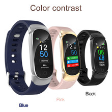 Simple luxury QW16 Smart Watch Sports Fitness Activity Heart Rate Tracker Blood Pressure Oxygen Health Smart Band Smartwatch @5(China)