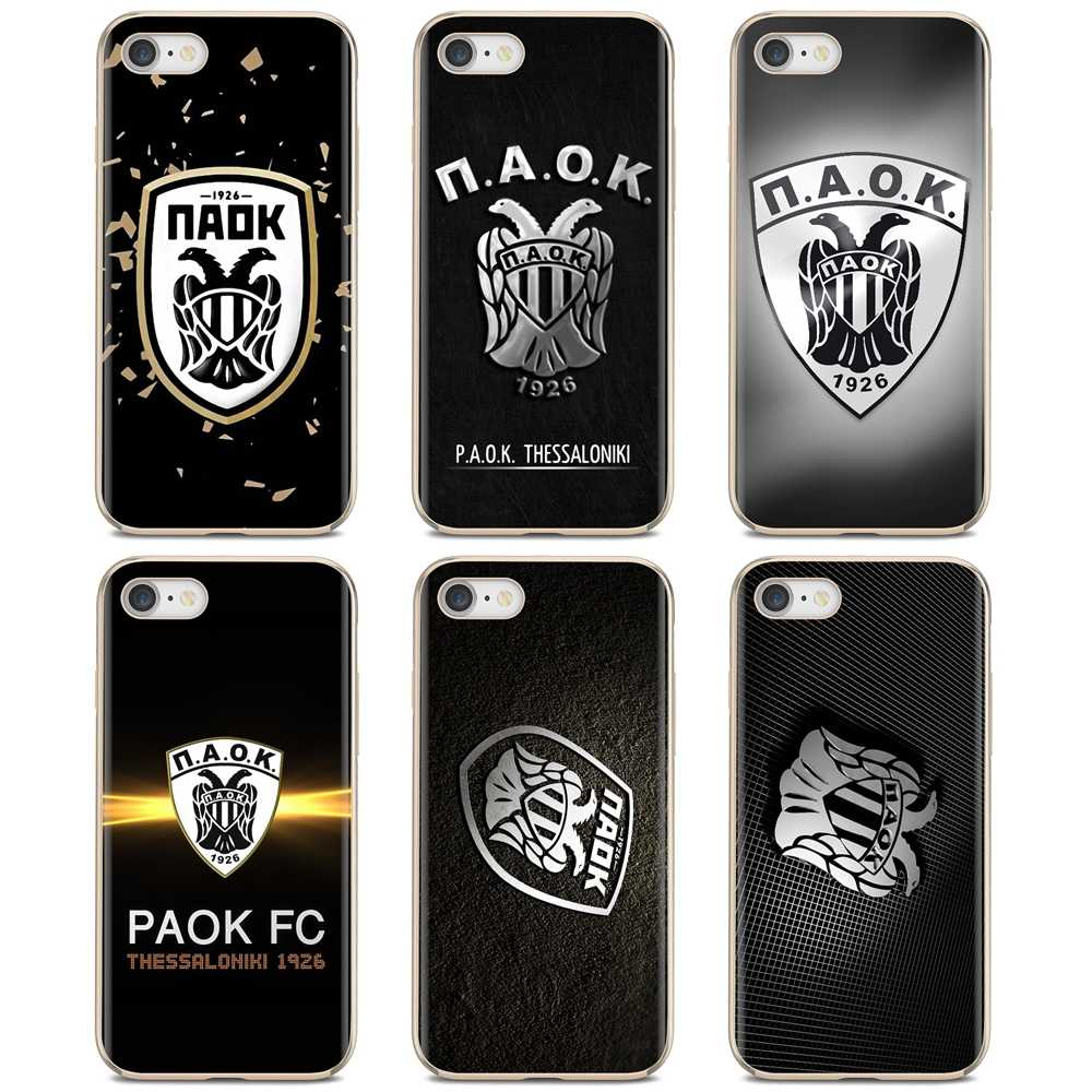 paok fc thessaloniki Football Logo For Xiaomi Redmi 4A 7A S2 Note 8 3 3S 4 4X 5 Plus 6 7 6A Pro Pocophone F1 Silicone Shell Case