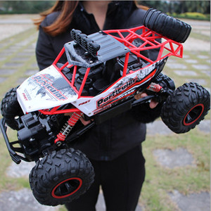 Image 5 - RC רכב 4 WD לכלוך אופני 2.4G רדיו שלט רחוק מכוניות בני צעצועי מרכבה כביש משאיות עבור ילדי דגם רכב צעצוע 37 CM 1:12
