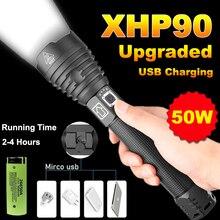 20000 Lumens Xhp90 Powerful Led Flashlight Usb Rechargeable