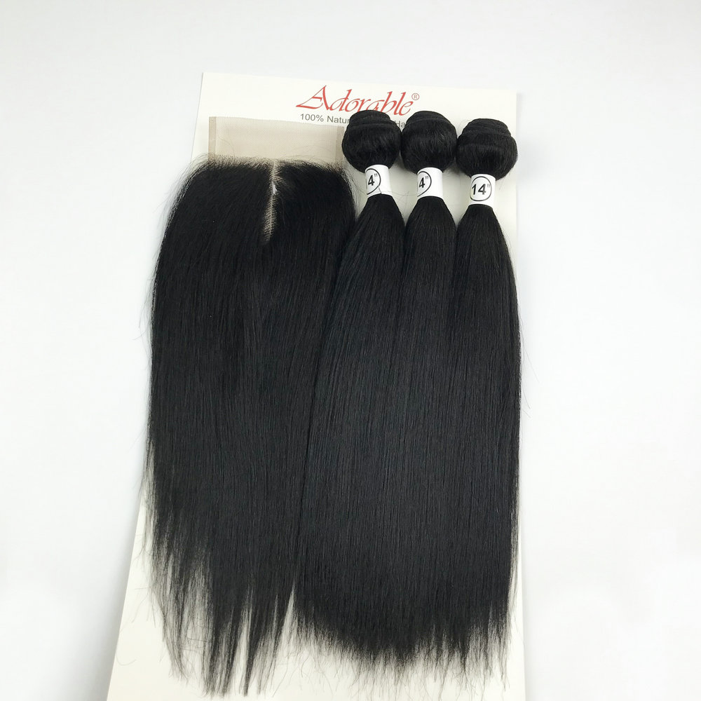 feixes de cabelo sinteticos misturados animais com 01
