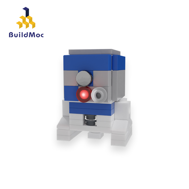 BuildMoc <font><b>Star</b></font> <font><b>Wars</b></font> Figures Mini R2-D2 Robot Building Blocks Movie Starwars Astromech Droid Robots Toys Gift Lepining 05043 10225 image