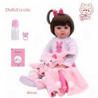 Bonecas poupée 46CM Silicone Reborn bébé réaliste enfant en bas âge Reborn bébé Bebes poupée Brinquedos Reborn jouets pour enfants cadeaux