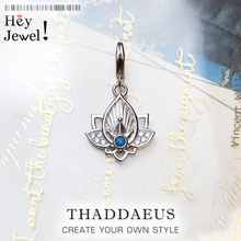 Trendy Buddhism Lotus Pendant Charm For Women Minimalist 925 Sterling Silver Gift Fit Bracelet Choker Necklaces Beginnings Gift