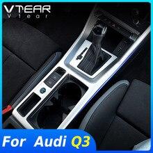 Vtear For Audi Q3 2019 2020 2021 액세서리 센터 콘솔 장식 스트립 기어 패널 트림 커버 내부 수정 스티커