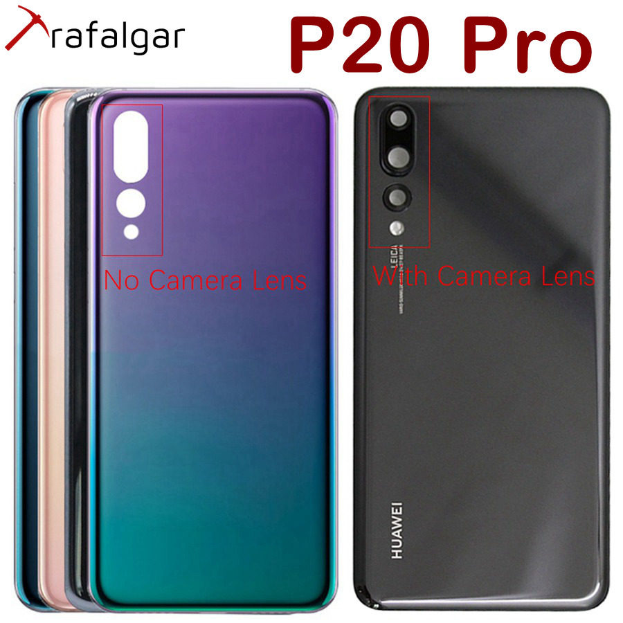 Housing-Case-Panel Cover Camera-Lens Glass Back Huawei P20 Rear Door Pro for