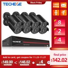 Techege H.265 8CH 1080P HDMI POE NVR Kit CCTV Sicherheit System 2,0 MP IR Outdoor Audio Record IP Kamera p2P Video Überwachung Set