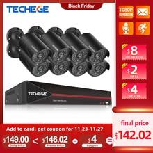 Techege H.265 8CH 1080P HDMI POE NVR Kit système de sécurité CCTV 2.0MP IR enregistrement Audio extérieur caméra IP P2P ensemble de Surveillance vidéo