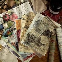 Autocollant séries vieux papier, étiquette autocollante, Scrapbooking, pour Album journal intime, papeterie Kawaii, fournitures scolaires, DIY bricolage, 20 feuilles