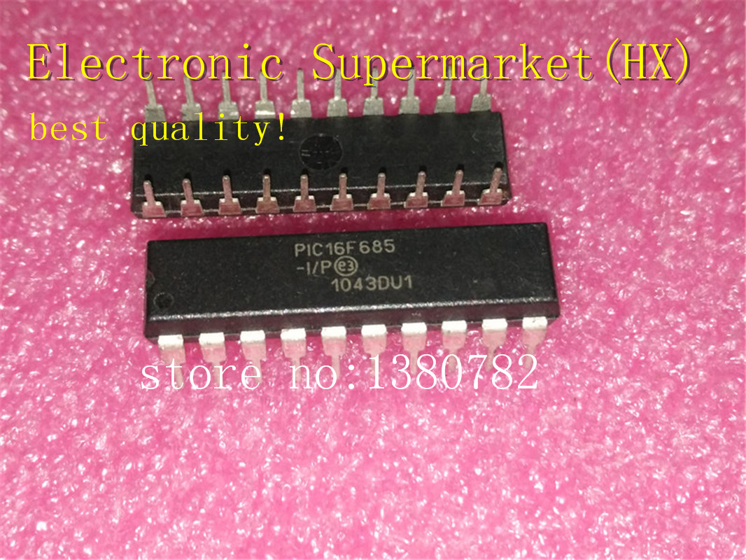 Free Shipping 50pcs/lots PIC16F685 I/P PIC16F685 PIC16F685 IP DIP 20  New original  IC In stock!-in Integrated Circuits from Electronic Components & Supplies