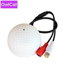 OwlCat аудио мониторинг микрофон звукосниматель микрофон для видеонаблюдения безопасности ip-камера встроенный предусилитель проводной голосовой монитор