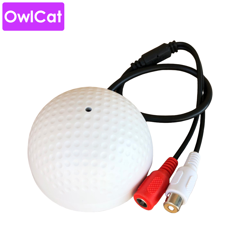 OwlCat Audio Monitoring MIC Sound Pickup Microphone For CCTV Surveillance Security IP Camera Built In Preamp Wired Voice Monitor
