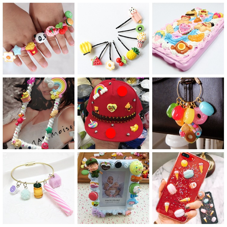 DIY Crafts Resins Supplies Toys Accessories Bracelet Headdress Jewelry Ring Cap Phone Case 20Pcs For Kids Girl Adult Creativity