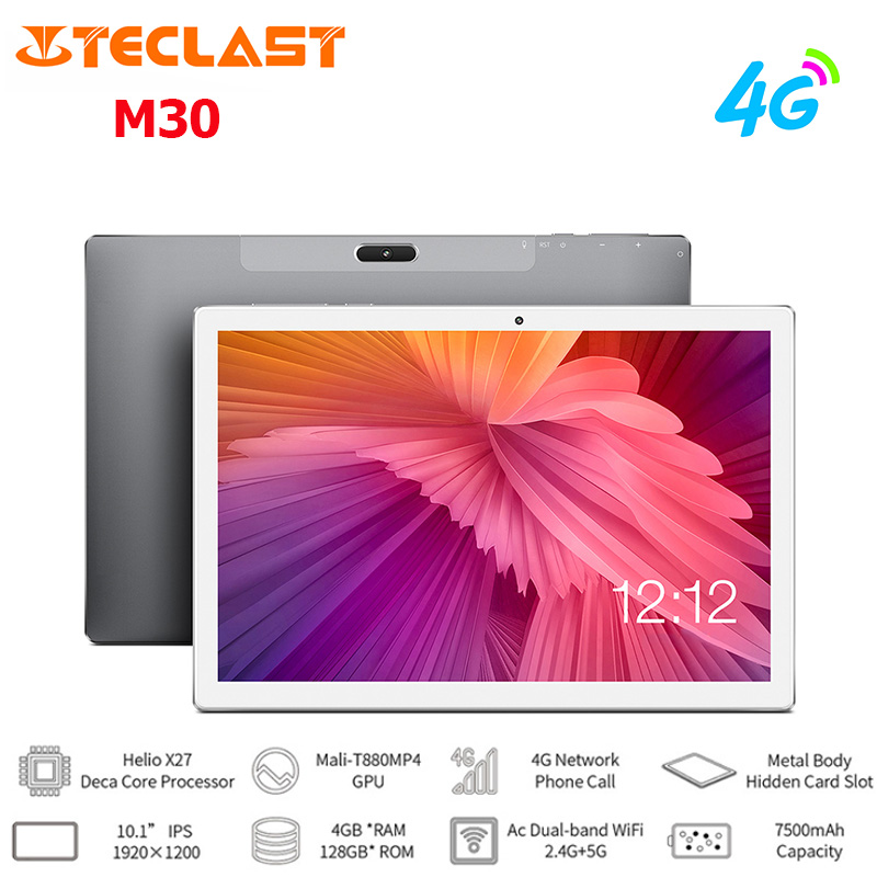 Teclast M30 10.1'' 4G Phablet IPS 1920*1200 Screen Android 8.0 MT6797X (Helio X27) Decore Phone Call Tablet 64GB / 128GB 5MP Cam