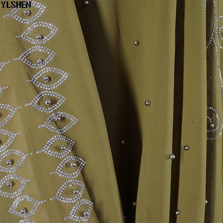 Length 150cm Africa Dress African Dresses for Women Dashiki Diamond Beaded Traditional Boubou African Clothes Abaya Muslim Dress 17
