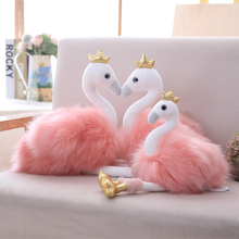 20 / 30cm swan plush toy animal doll ballet cute flamingo with crown baby child comfort toys for girls