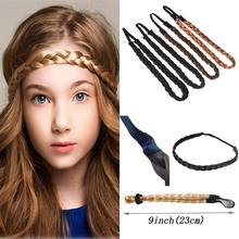 Fashion Women Girl Synthetic Hair Plaited Plait Elastic Headband Hairband Braided Band Hair accessories Bohemian Style цена 2017
