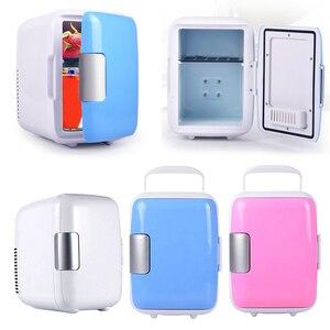 12V 4L Portable Car Refrigerator Mini Fridge Refrigerator Dual-Use Cooler Warmer Box Fridge Compressor For Office Yacht Truck RV