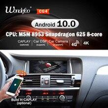 Rádio do carro do andróide 10 do ruído de snapdrago 2 para bmw x4 f26 x3 f25 2011 2012-2017 2din navegação estereofônica do carro de áudio automático autoradio gps