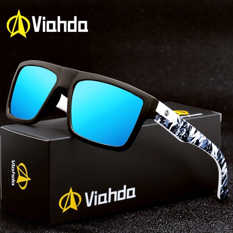 Viahda 2020 nova marca quadrada polarizado óculos de sol dos homens do esporte designer mormaii óculos de sol com caixa