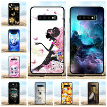For Samsung Galaxy S10 Plus Case Soft TPU SM-G975F Cover Cat Patterned Capa Bag