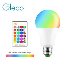 Led Bulb Lights 5W 10W 15W E27 RGB RGBW AC 110V 220V 16 Colors Changeable With 24Keys IR Romote Control Home Decoration Led Bulb(China)
