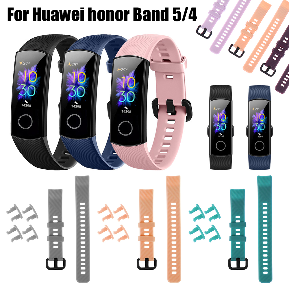 New Fashion Silicone Watch Band Replacement Bracelet Strap Wristbands Sports Colorful Wristbands For Huawei Honor Band 5 4
