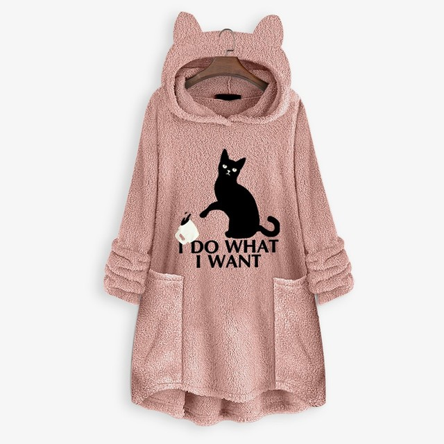 OVERSIZE HOODIE WITH CAT EARS 2