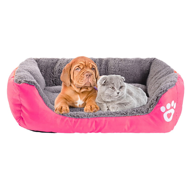 S-3XL 10 Colors Paw Pet Sofa Dog Beds Waterproof Bottom Soft Fleece Warm Cat Bed House Petshop cama perro 10