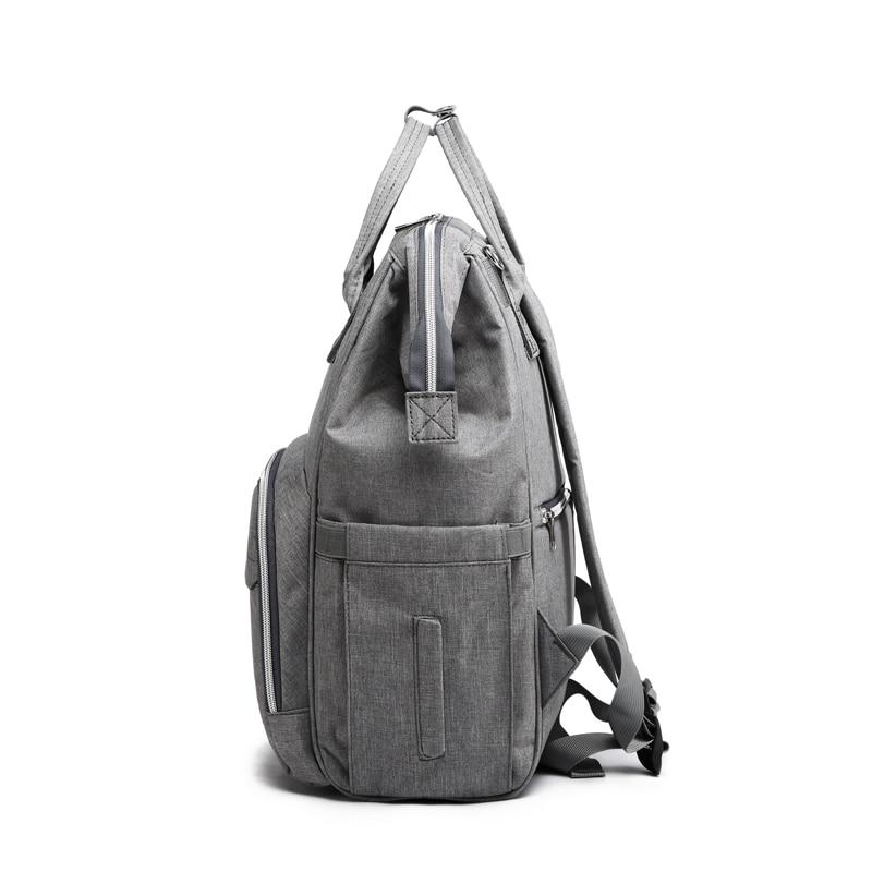 Image 3 - USB сумка для подгузников, рюкзак для мам, мокрая сумка для мам, водонепроницаемая сумка для коляски, сумка Органайзер, уличные сумки для ухода за детьми LEQUEENСумки для подгузников   -
