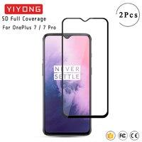 YIYONG 9D funda completa templada de vidrio para uno más 7 T 8T 6T Nord Protector de pantalla para uno más 8 OnePlus 7 T Pro 3D de vidrio curvado