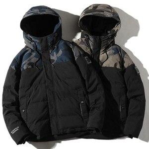 Image 3 - Parka גברים חורף מעילי כותנה Chaquetas Hombre Camo מעיל Mens מזדמן לעבות חם הסוואה אופנה Streetwear בגדים