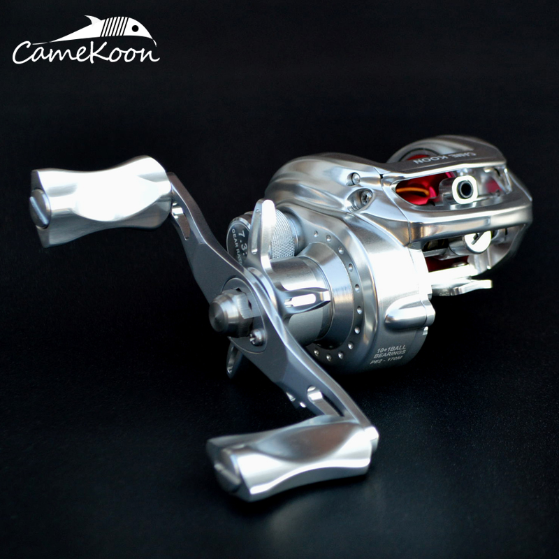 camekoon carretel de arremesso de aluminio completo 7 kg max arraste 7 3 1 relacao engrenagem