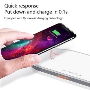 Image 3 - Kablosuz şarj için iPhone 8 X Xs Max Samsung S9 Apple Watch için 5/4/3/2/1 manyetik kablosuz şarj 2 in 1 hızlı şarj pedi