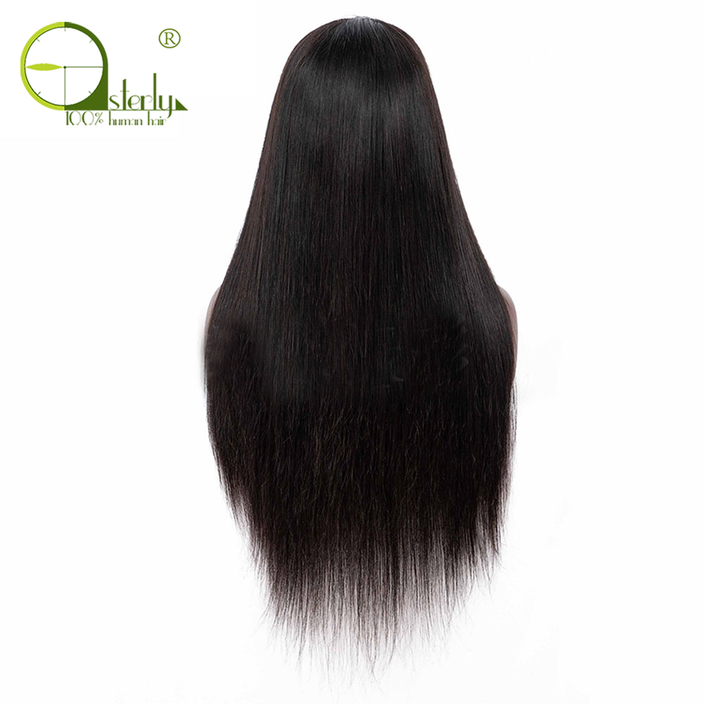 Hbd8db65d78a6497394ce51f08525b85eN Sterly 4x4 Lace Closure Wig Remy Hair Straight Lace Wig Brazilian Lace Closure Human Hair Wigs For Black Women