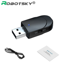 Receiver Audio-Transmitter Bluetooth Headphone Music Mini Wireless AUX 2-In-1 for PC