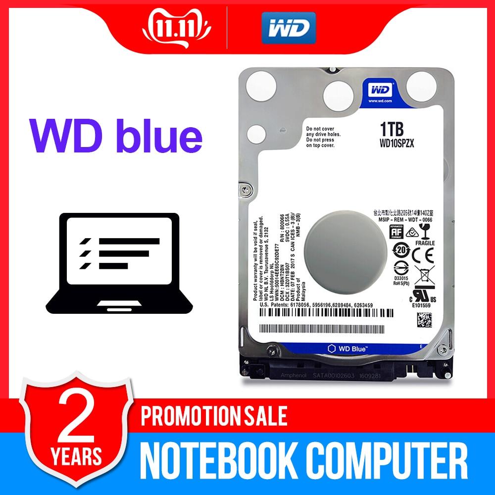 WD Western Digital Blue 1TB Notebook hdd 2 5 SATAIII WD10SPZX disco duro laptop Internal Hard