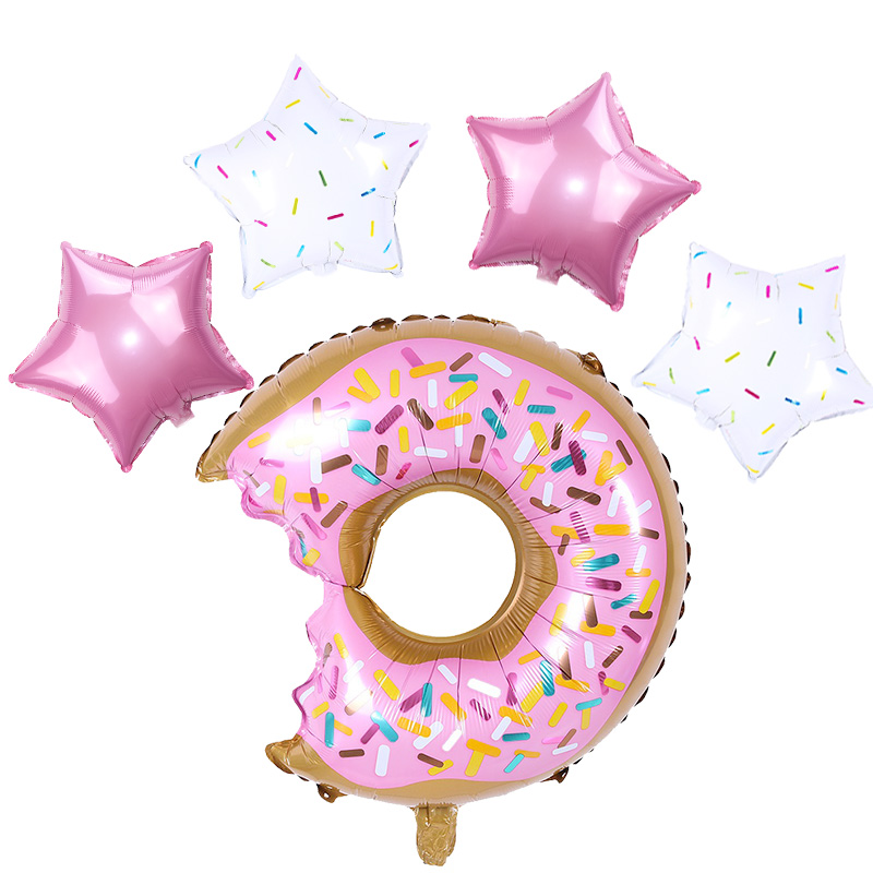 Donut Party Decoration Balloons Happy Birthday Banner Kids Baby Shower Baby 1st Birthday Party Decor Donut Wall Stand Holder in Party DIY Decorations from Home Garden