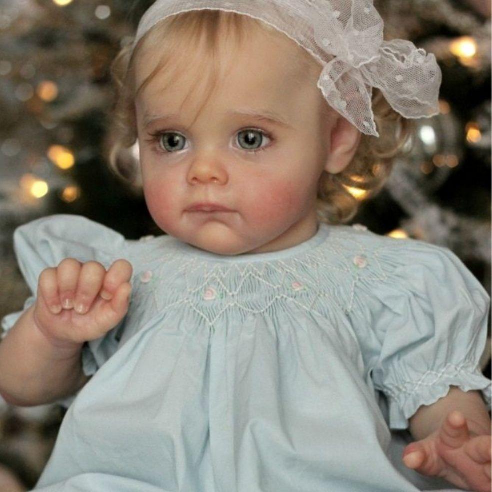 Maggi bebe kit renascer 22 polegadas verdadeiramente renascer bebê boneca corpo de vinil toque macio peças em branco desmontado brinquedo diy à venda