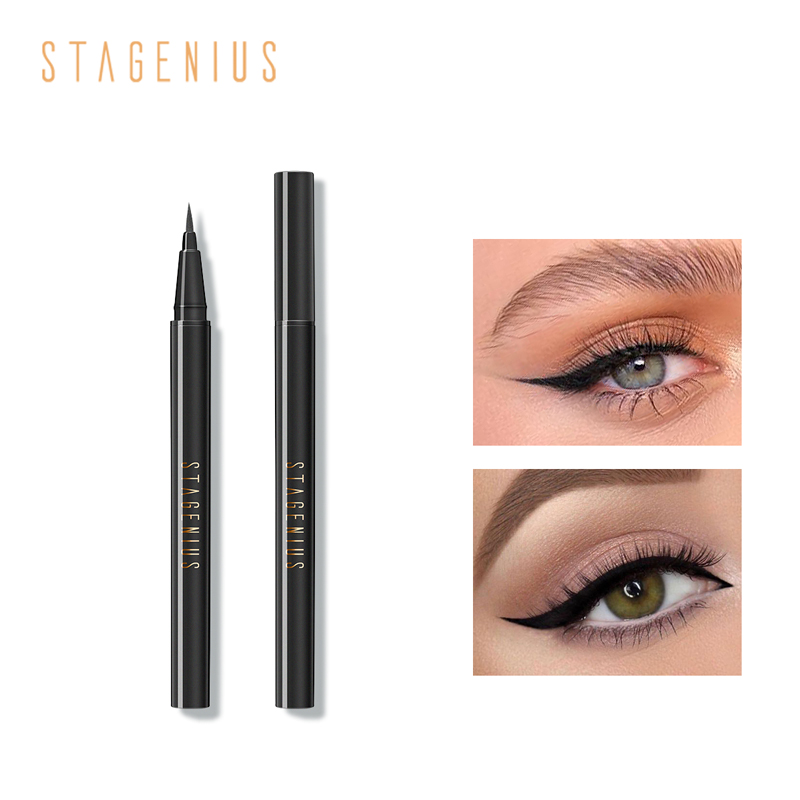 STAGENIUS liquid eyeliner pen waterproof Black Long Lasting Sweat-proof Eyeliner Professional Makeup Tools Brand New image