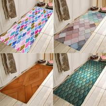 Marble scales, wood chips, flannels, household Anti-Slip absorbent mat, door mat, bathroom mat, bedside mat pebble series flannel printing home anti slip absorbent entry mat bathroom mat door mat bedside mat