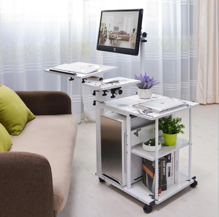 Simple Bed Side Laptop Desk With Stand Lazy Computer Desk Bed PC Desk Desktop Table Home Rotating Moveable Laptop Table