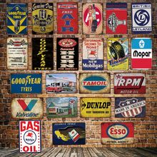 [ DecorMan ] Motor Oil Metal TIN SIGN Custom wholesale  Mural Paintings Hotel PUB Garage Decor LT-1803