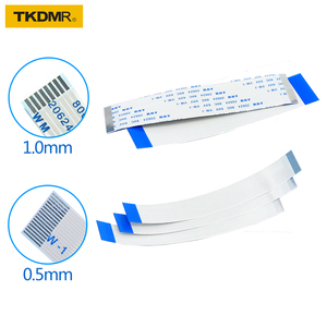TKDRM Flat flexible cable FFC FPC LCD cable AWM 20624 80C 60V VW-1 FFC-0.5MM 1MM 4pin Connector blue 50-300MM wire connector(China)