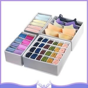 Image 1 - 4pcs Foldable Multipurpose Drawer Organizer Divider Storage Box Case Closet Clothes Underwear Socks Panty Organizer Dropshipping