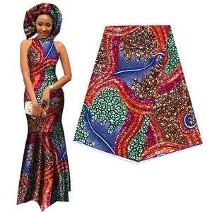 Image 2 - אלגנטי אפריקה אנקרה הדפסי בטיק בד מובטח אמיתי שעוות טלאים לנשים המפלגה שמלת מלאכות 100% כותנה באיכות הטובה ביותר
