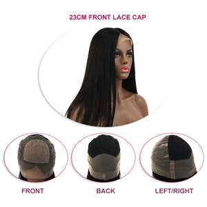 WIGS Virgin-Hair Lace-Front Transparent Silk K.S Base Straight Hairline Swiss HD Pre-Plucked