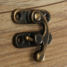 Padlock Hasp Lock-Hardware Furniture Mini Antique for Jewelry-Box 5pcs Hook Iron Bronze